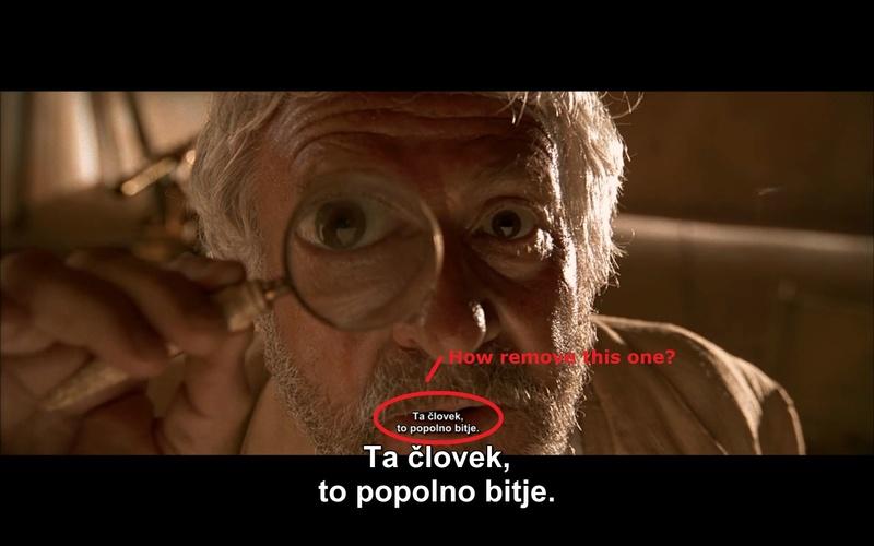 Duplicate subtitles in .mkv S10