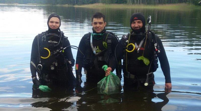 Дайверы очистили акваторию озера Рытое 123