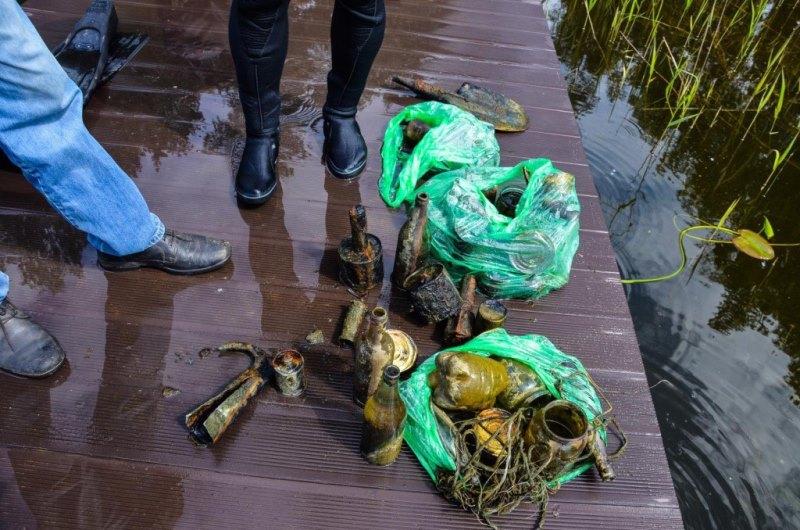Дайверы очистили акваторию озера Рытое 217