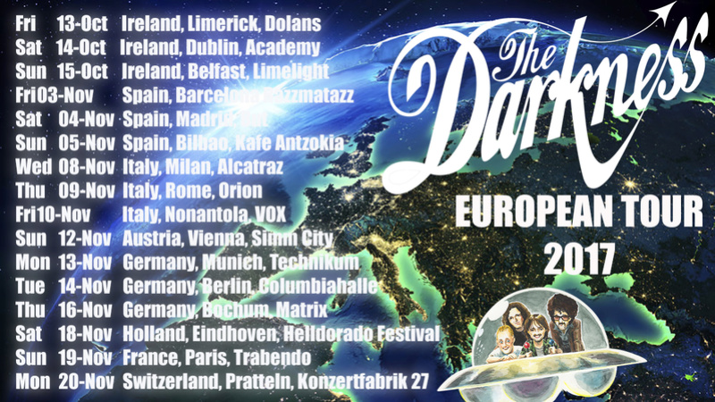 THE DARKNESS - Disco nuevo y gira para enero/febrero 2020 Europe10