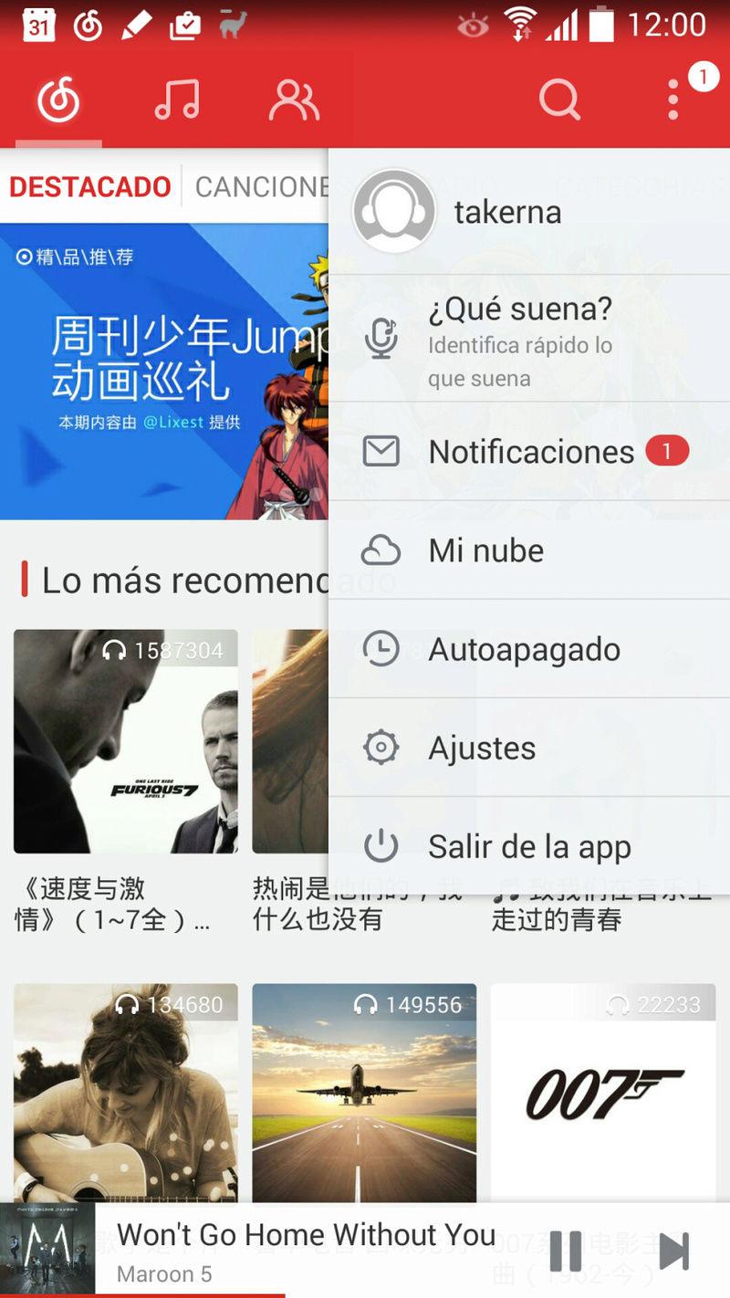 Spotify a lo chino :: NetEase Cloud Music = Streaming 320kbps + descarga sin DRM [gratuito y sin anuncios] 2ufyk310