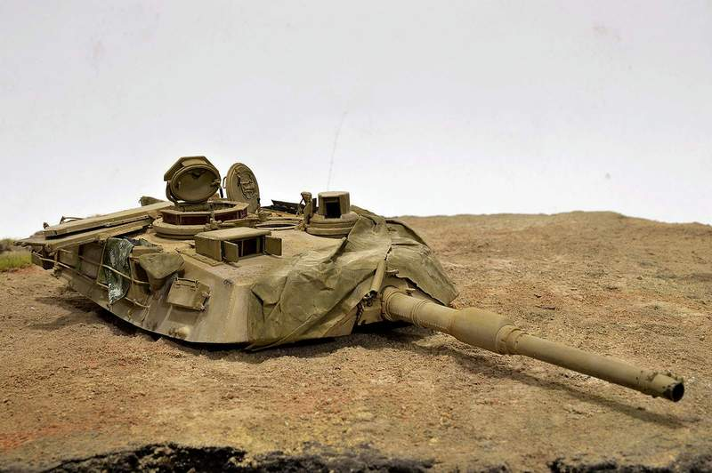 М1А2 Abrams…  БАШНЮ СНЕСЛО… 00416
