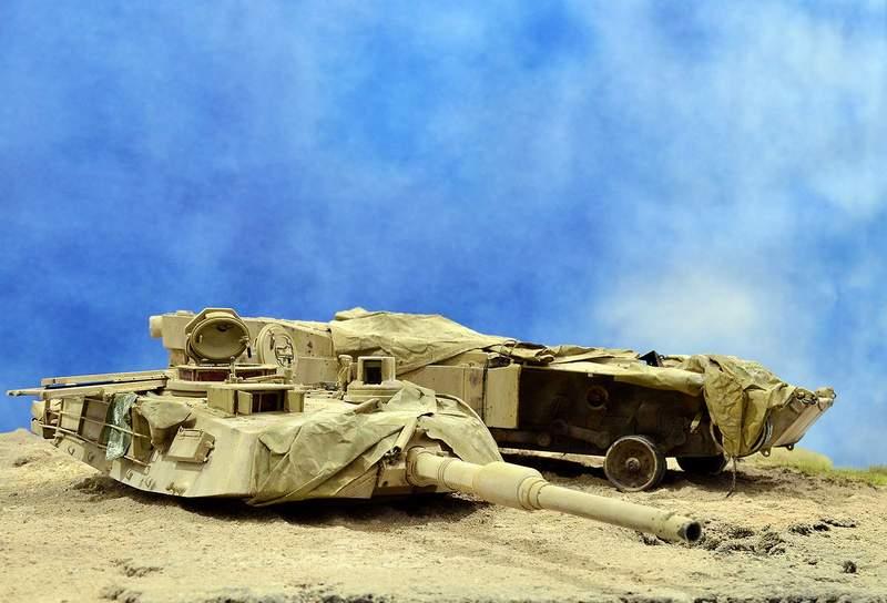 М1А2 Abrams…  БАШНЮ СНЕСЛО… 01216