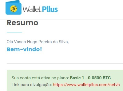[SCAM] WalletPllus - 3.3% ao dia! Wallet12