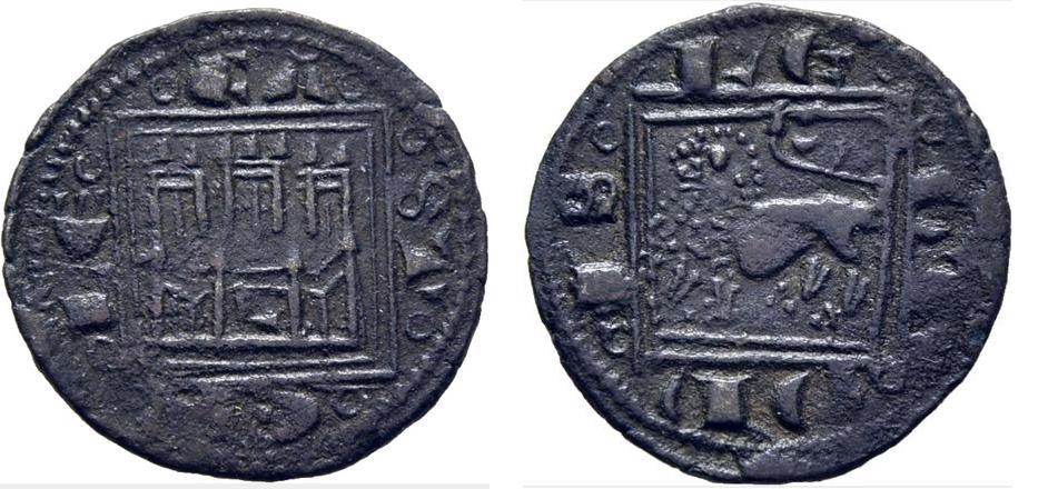 Pugesa de Alfonso X. L en puerta. León Moneda13