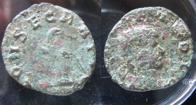 Antoniniano póstumo de Claudio II. CONSECRATIO. Águila explayada a dcha. Ceca Siscia. Moneda15