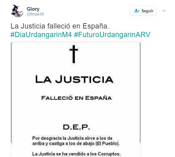 Sr. Ministro de Justicia: ¿ de verdad se cree usted que la justicia es igual para todos? 26fb6910