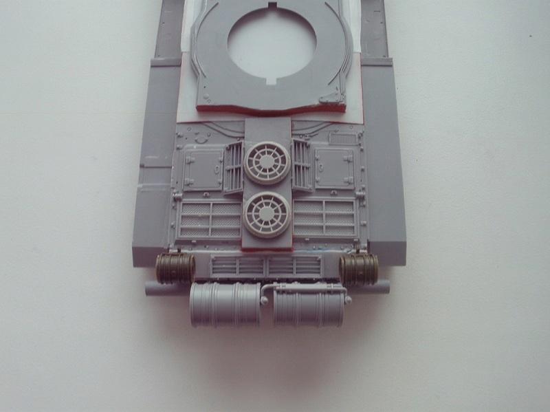 """Танк Т-145 типа """"Молот"""", масштаб 1\35, конверсия-самоделка P1011010"""