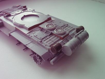 """Танк Т-145 типа """"Молот"""", масштаб 1\35, конверсия-самоделка P1011123"""