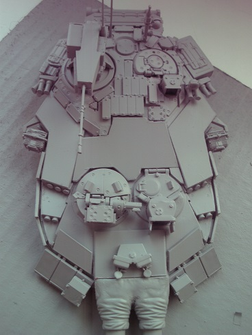 """Танк Т-145 типа """"Молот"""", масштаб 1\35, конверсия-самоделка P1011124"""
