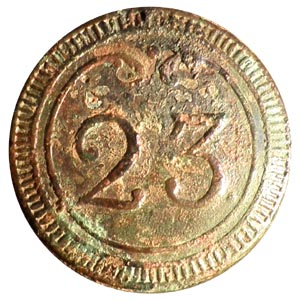 Botón del 23º Rgto. de Dragones (Caballería), ejto. francés 1803-1815 23_rgt10