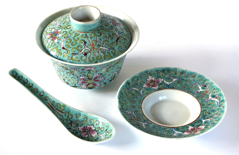 Chinese spoon and bowl Set110