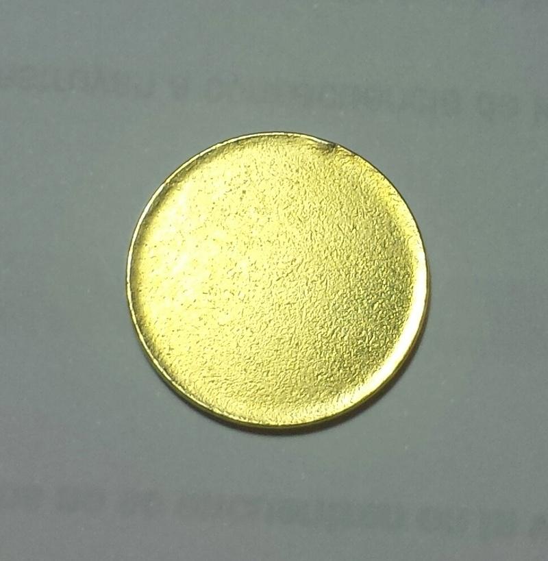Moneda de una peseta sin acuñar Cospel10