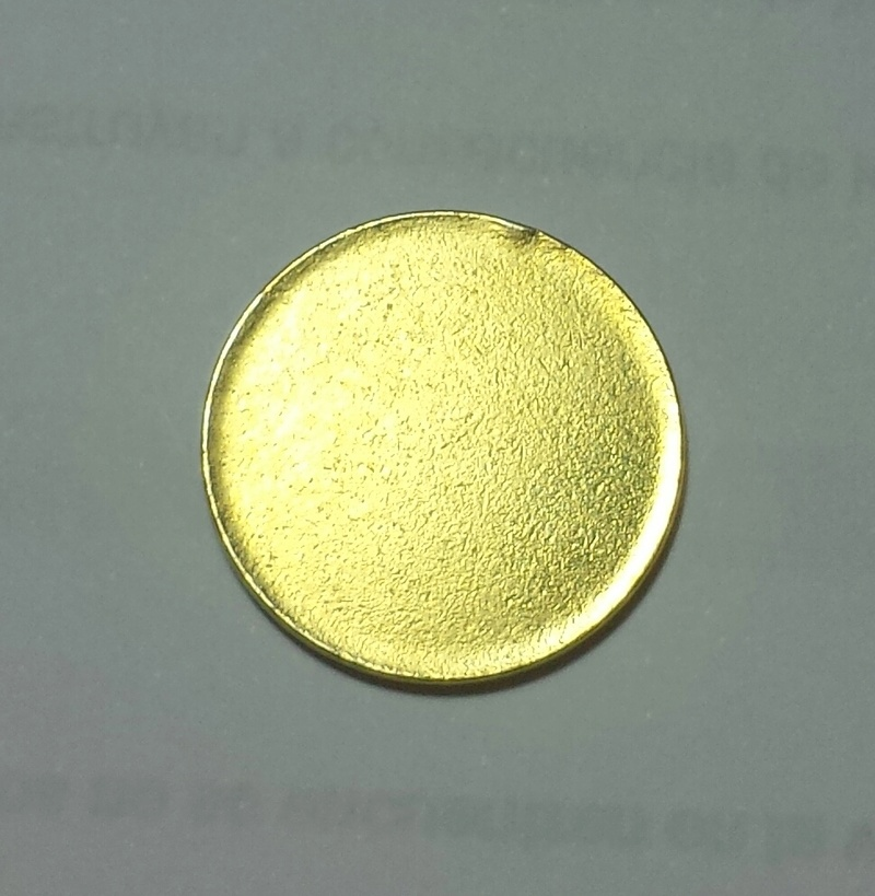 Moneda de una peseta sin acuñar Cospel11