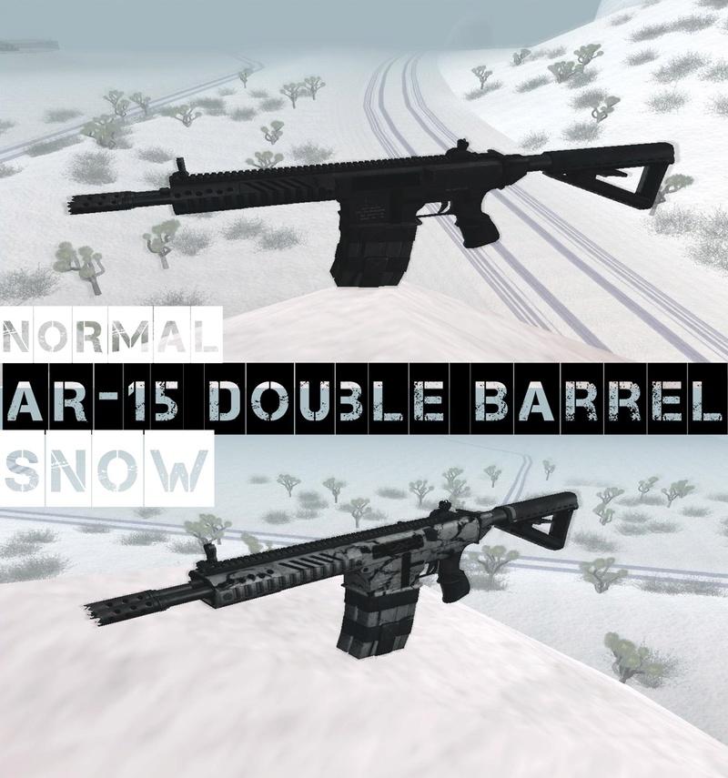 AR-15 Double Barrel + Snow Camo Ar1510