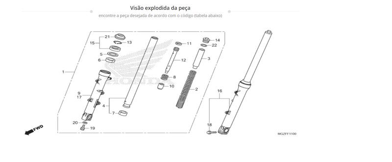 Regulador pré carga da mola (dianteira) 201510