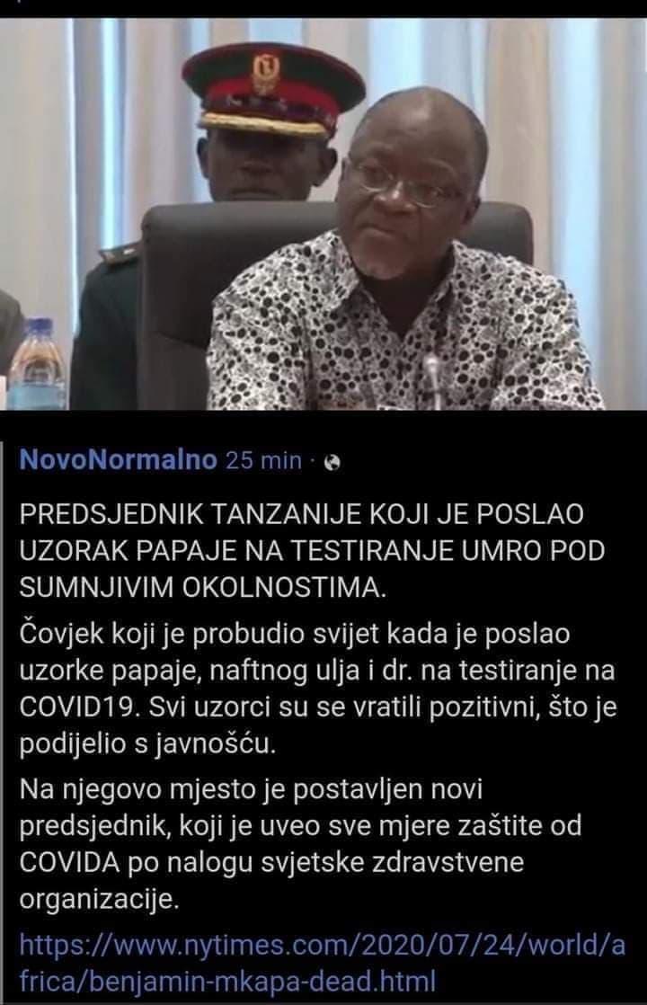 """MEDIJSKE MANIPULACIJE-KORONA KOVID """"VIRUS""""! - Page 2 Tanzan10"""