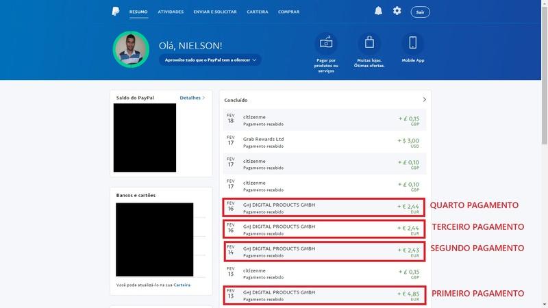 [Provado] AppLike - Ganhar dinheiro no PayPal (Android) Pagame10