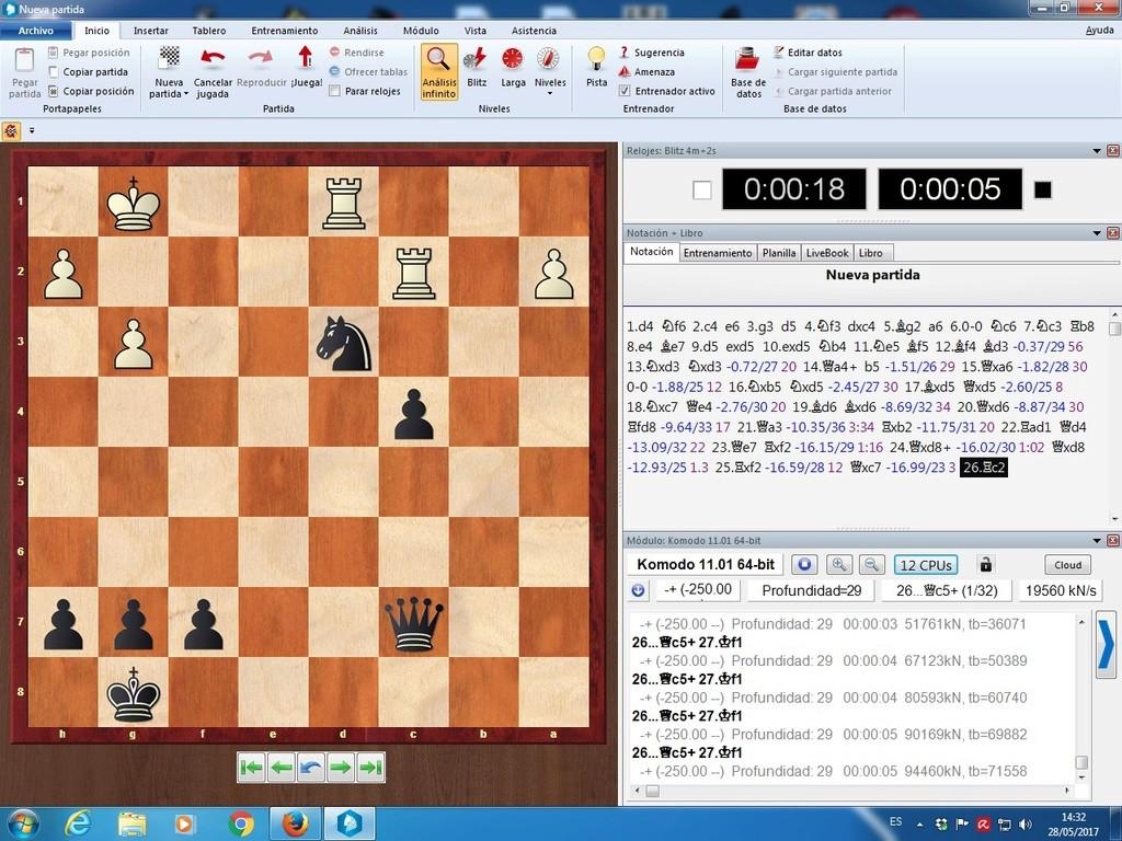 Komodo 11.01, Pez Asmático, Houdini, Stockfish y pantallazos varios Komodo17