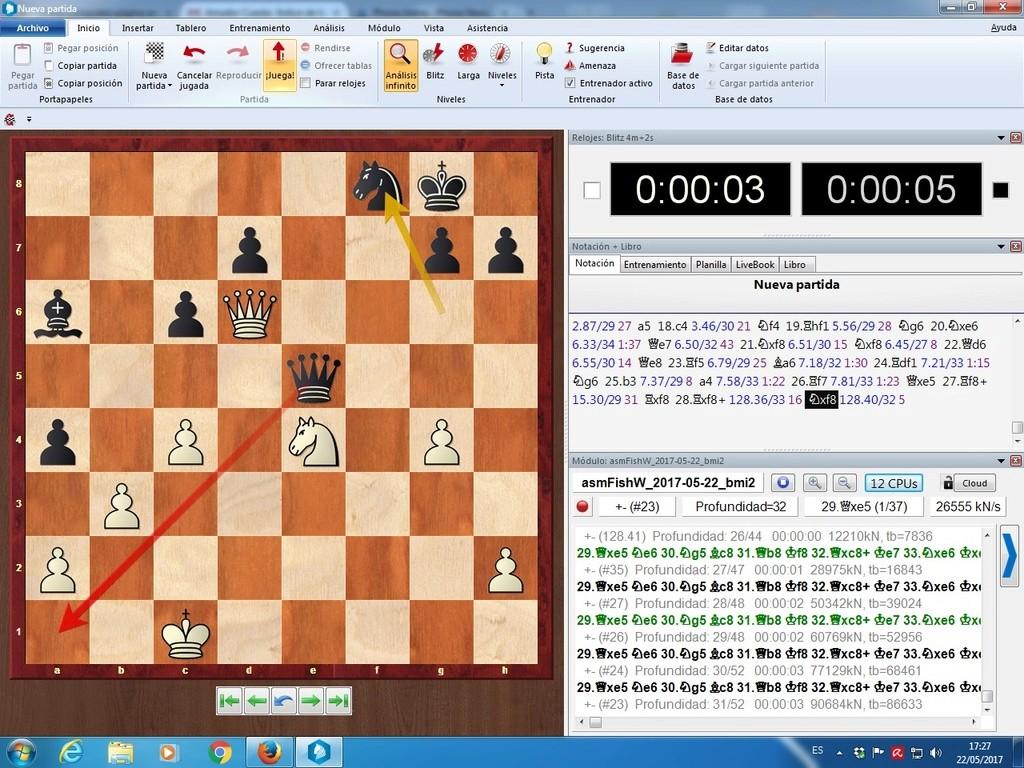 Komodo 11.01, Pez Asmático, Houdini, Stockfish y pantallazos varios Mate_l12