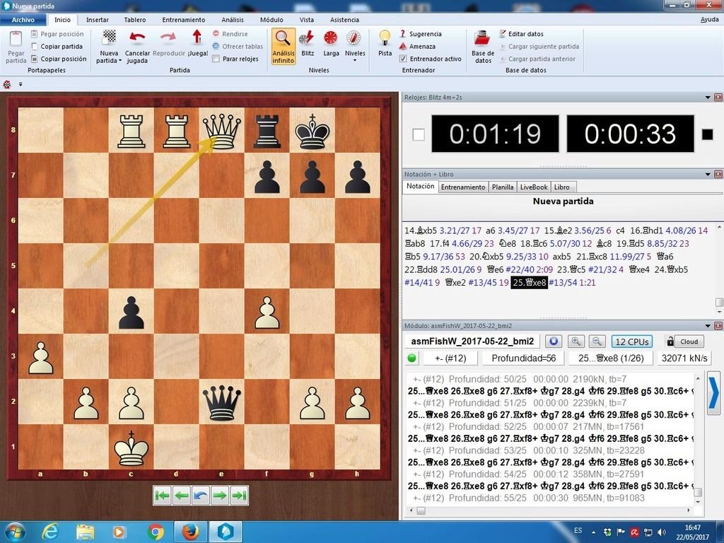 Komodo 11.01, Pez Asmático, Houdini, Stockfish y pantallazos varios Myys_d10