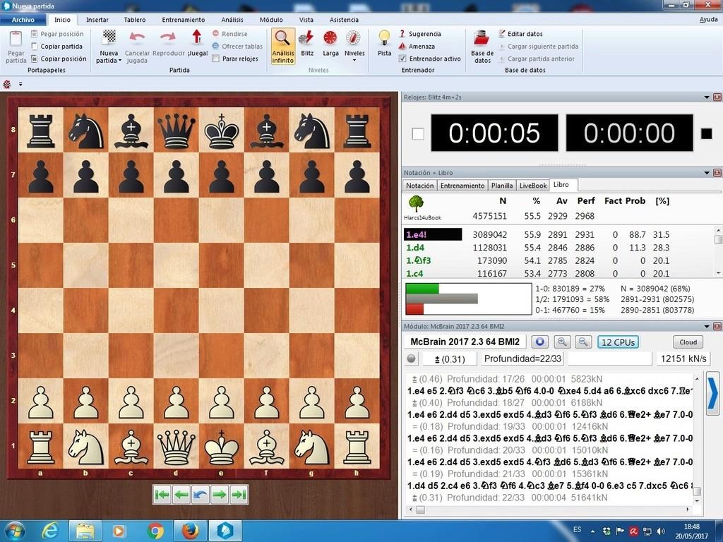 El motor McBrain , muy comentado estos días en los foros de ajedrez. Yltima13