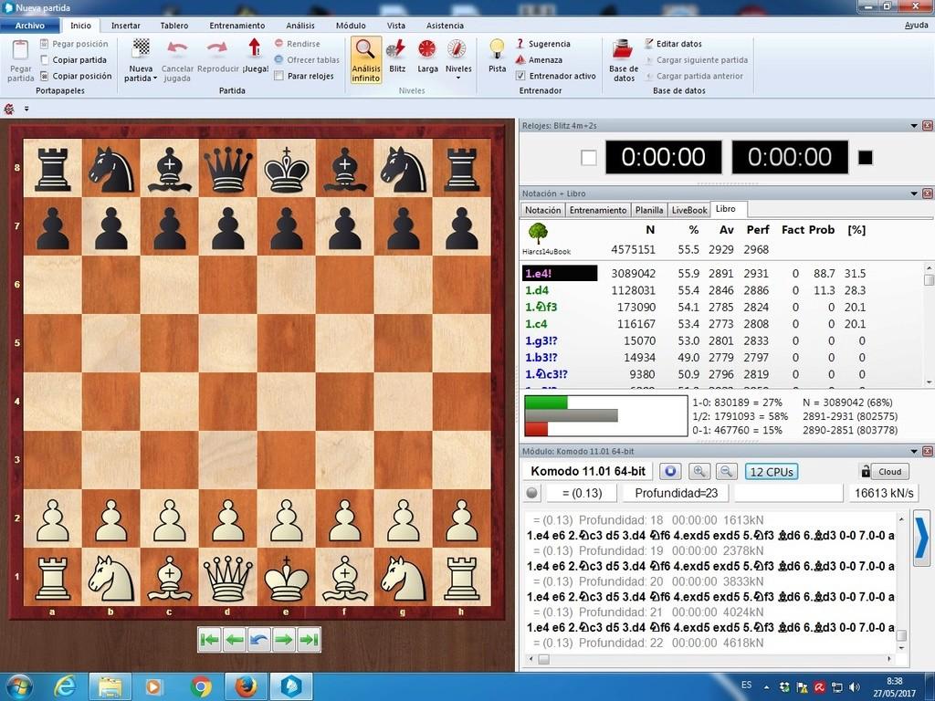 Komodo 11.01, Pez Asmático, Houdini, Stockfish y pantallazos varios Yltima14