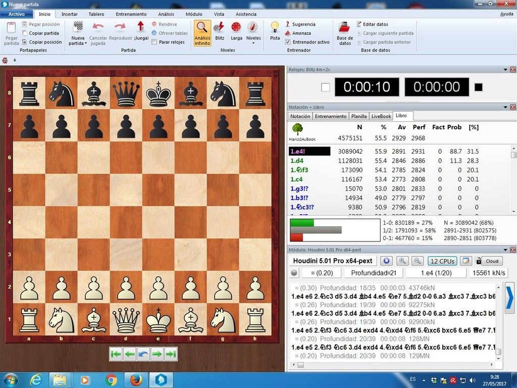 Komodo 11.01, Pez Asmático, Houdini, Stockfish y pantallazos varios Yltima15
