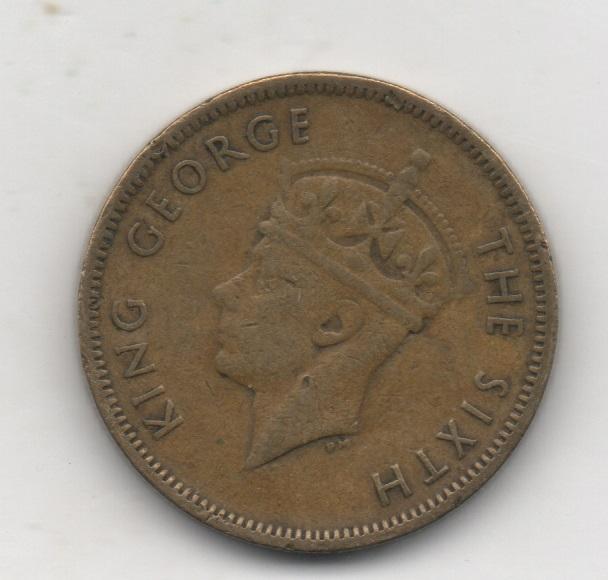 Rey Jorge VI. Hong Kong 10 cents 1948 115
