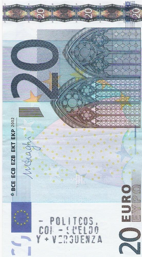 La picaresca de hacer publicidad en billetes y monedas Billet10