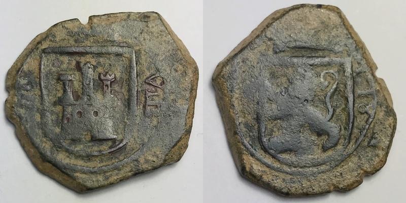 8 maravedis Felipe III 1618 ceca de valladollid _camte18