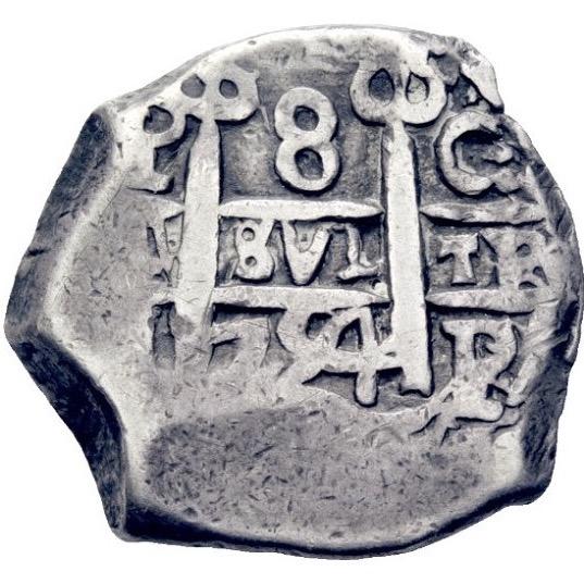 8 reales Macuquinos Fernando VI ceca de Potosi-1754- Img_2614