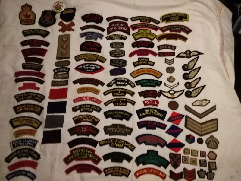 A selection of cloth insignia Img_2088