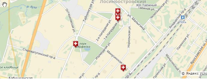 Медицинские учреждения поблизости Xunakj10