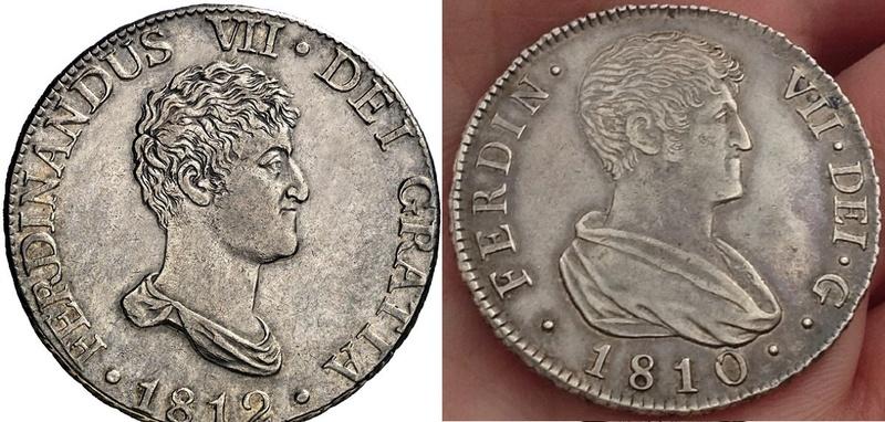 4 reales 1810. Fernando VII. Valencia 1812-811