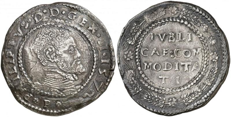 escudo ó 10 taris  messina CG felipe II 1565 sobre 1555 25293312