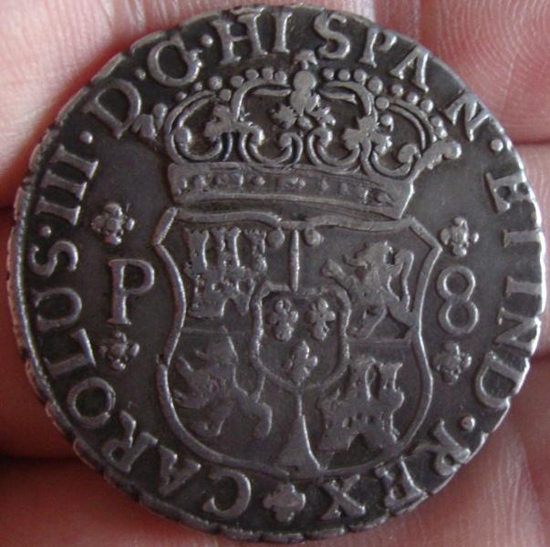 4 reales de 1770, Carlos III - Guatemala 2wcpp210
