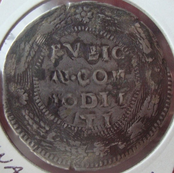 escudo ó 10 taris  messina CG felipe II 1565 sobre 1555 Dsc04624
