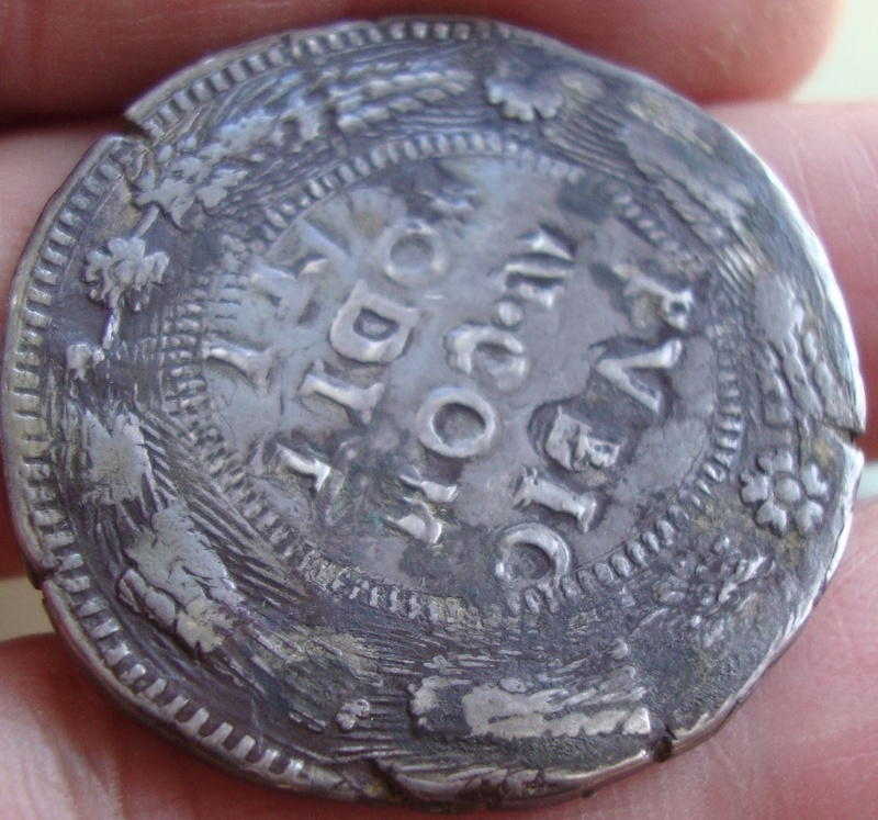 escudo ó 10 taris  messina CG felipe II 1565 sobre 1555 Dsc04629
