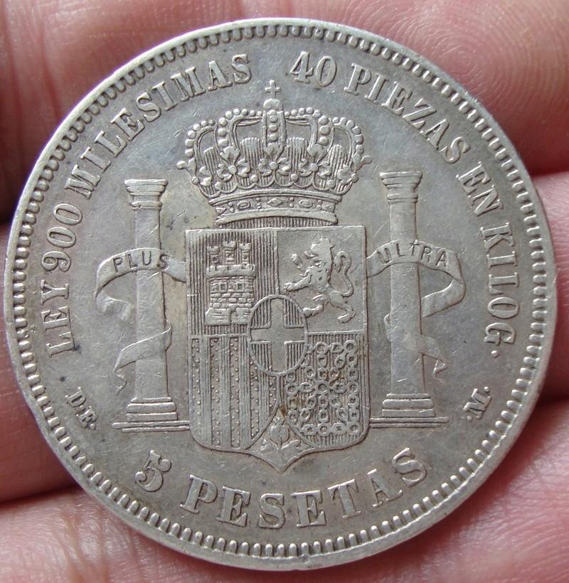 5 pesetas 1871 (18-74). Amadeo I Dsc04834