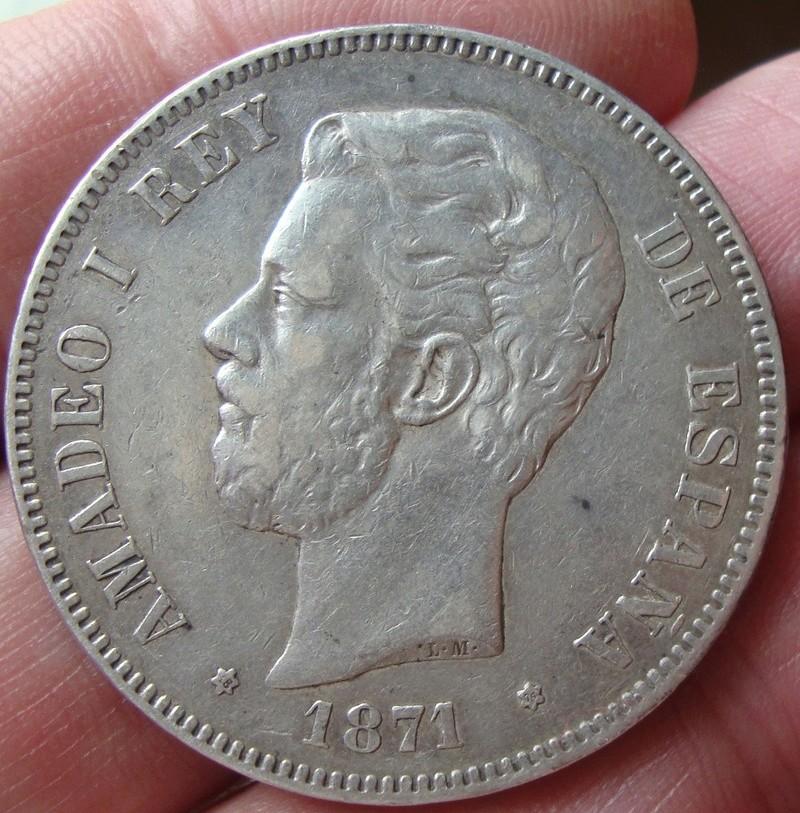 5 pesetas 1871 (18-74). Amadeo I Dsc04835