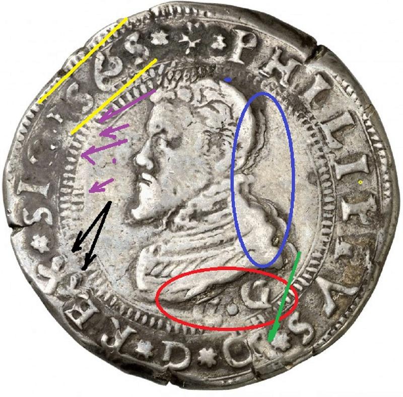 escudo ó 10 taris  messina CG felipe II 1565 sobre 1555 Kjfyq410