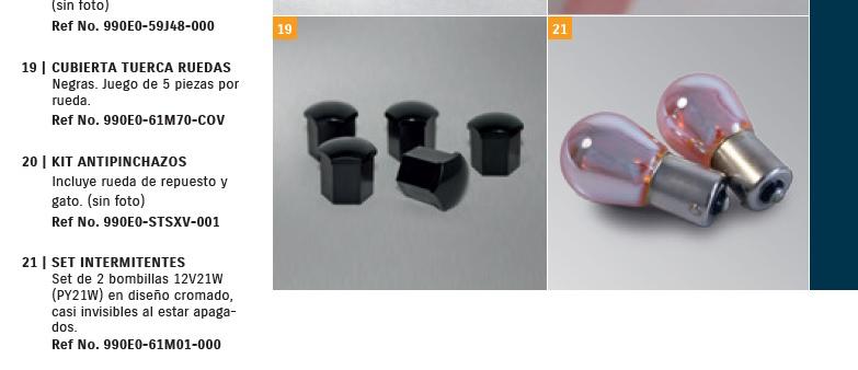 Set de intermitentes diseño cromado casi invisibles al estar apagados Bonbil10