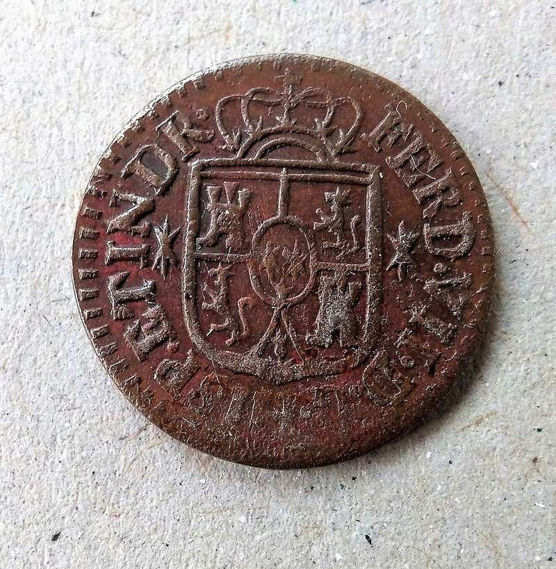 Un octavo 1830. Fernando VII. Manila Img_2079
