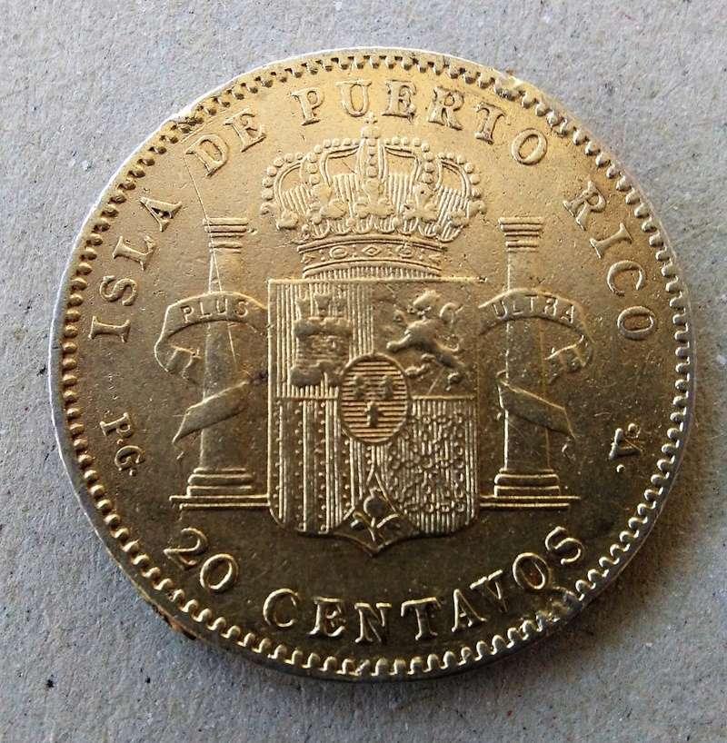 20 centavos de peso 1895. Alfonso XIII. Puerto Rico Img_2096