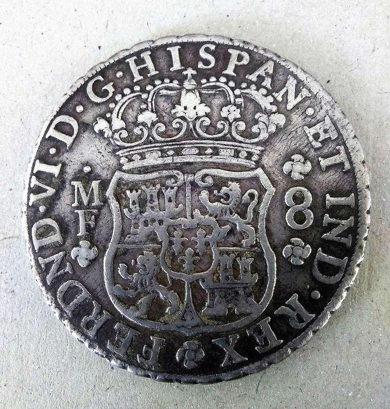 8 reales de Fernando VI, México 1754 - MF Img_2113