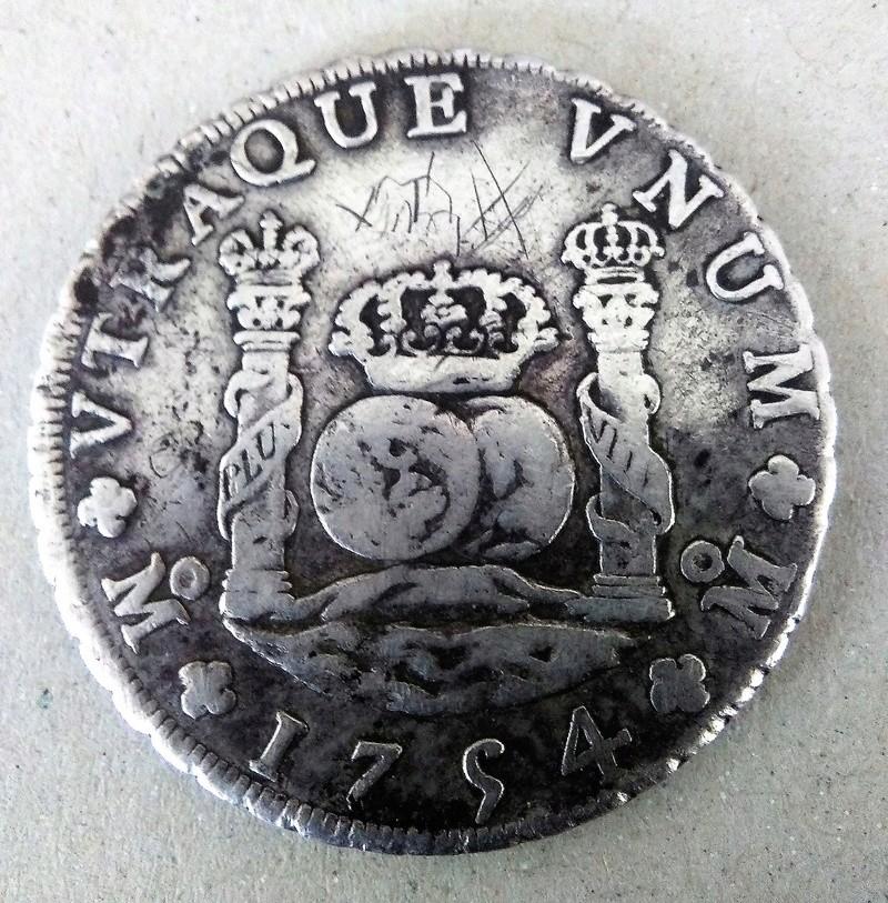 8 reales de Fernando VI, México 1754 - MF Img_2114