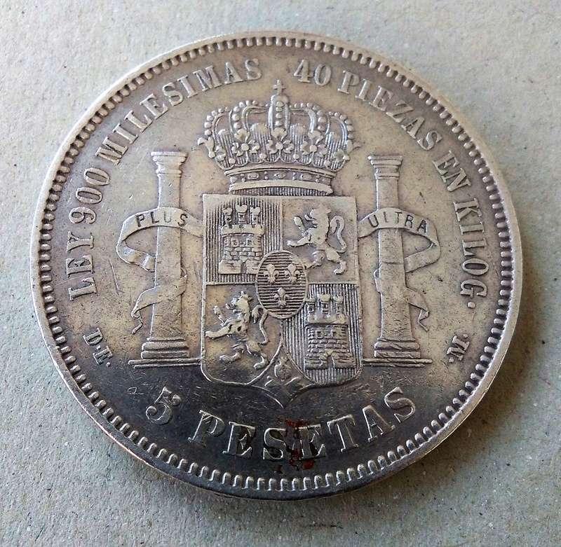 5 pesetas 1875. Alfonso XII Img_2118