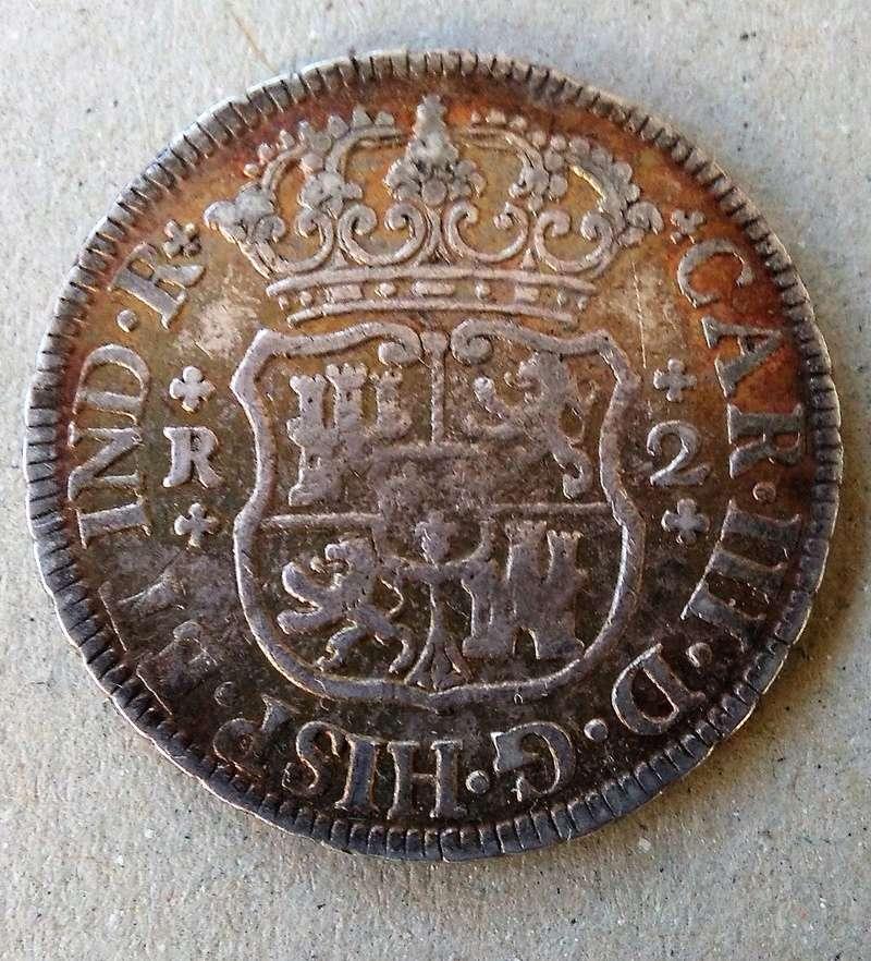 2 reales  Carlos III ,ceca de México, 1763 Img_2127
