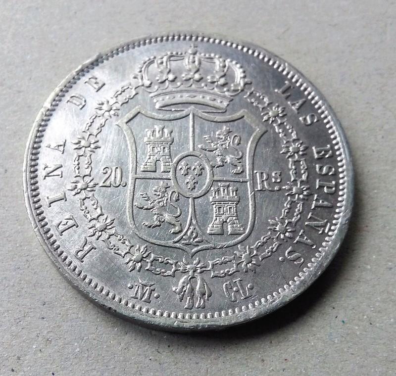 20 reales 1850. Isabel II. Madrid Img_2175